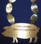 Emblem Grünkohlkönigin der Oldenburger Rohrleitungstage