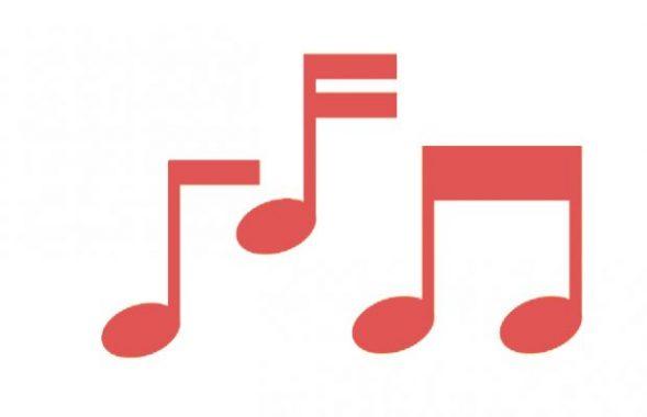 Musiknoten stehen für den Autofahrer-Blues