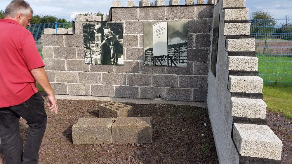Mauerwerk. Bims - wichtiger Baustein im Nachkriegsdeutschland. Foto: Angelika Albrecht